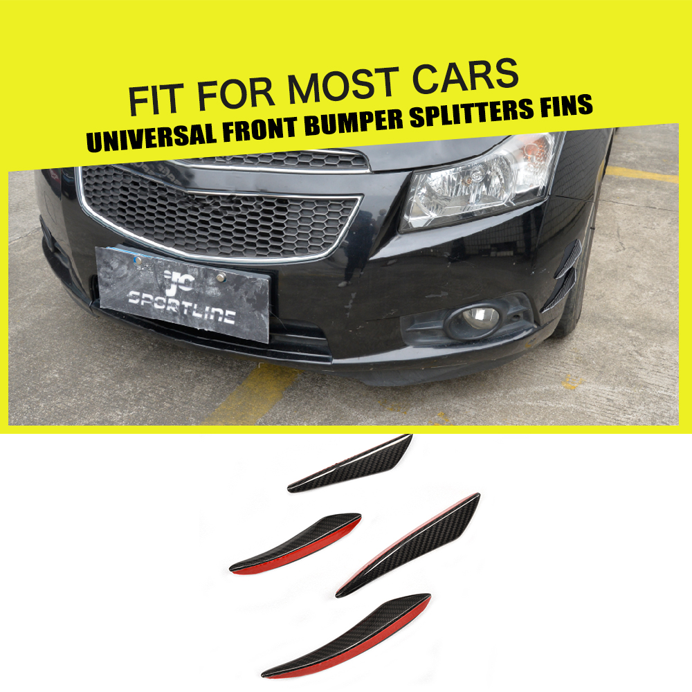 Universal car styling carbon fiber auto Front Bumper Canard trims decoration For Audi VW Benz BMW E36 E46 E82 E90 E92 F10 F30 car styling frp fiber glass chargespeed front bumper canard fit for honda s2000 ap2 in stock