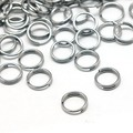 Jewelry Findings Original Color Double Loops Stainless Steel Jump Rings, 5x1.2mm