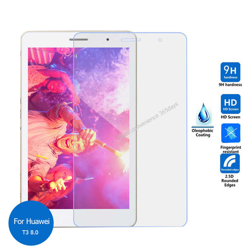 For Huawei Mediapad T3 8.0 Tempered Glass Screen Protector 9h Safety Protective Film on Mdeia pad T 3 8 KOB-L09 KOB-W09 KOB L09