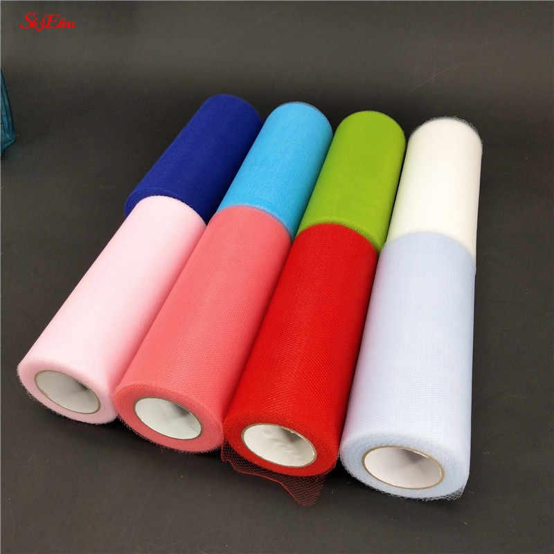 15cm*22M Yards Tulle Roll Fabric Spool Tutu Party Birthday Gift Wrap Wedding Table Decoration