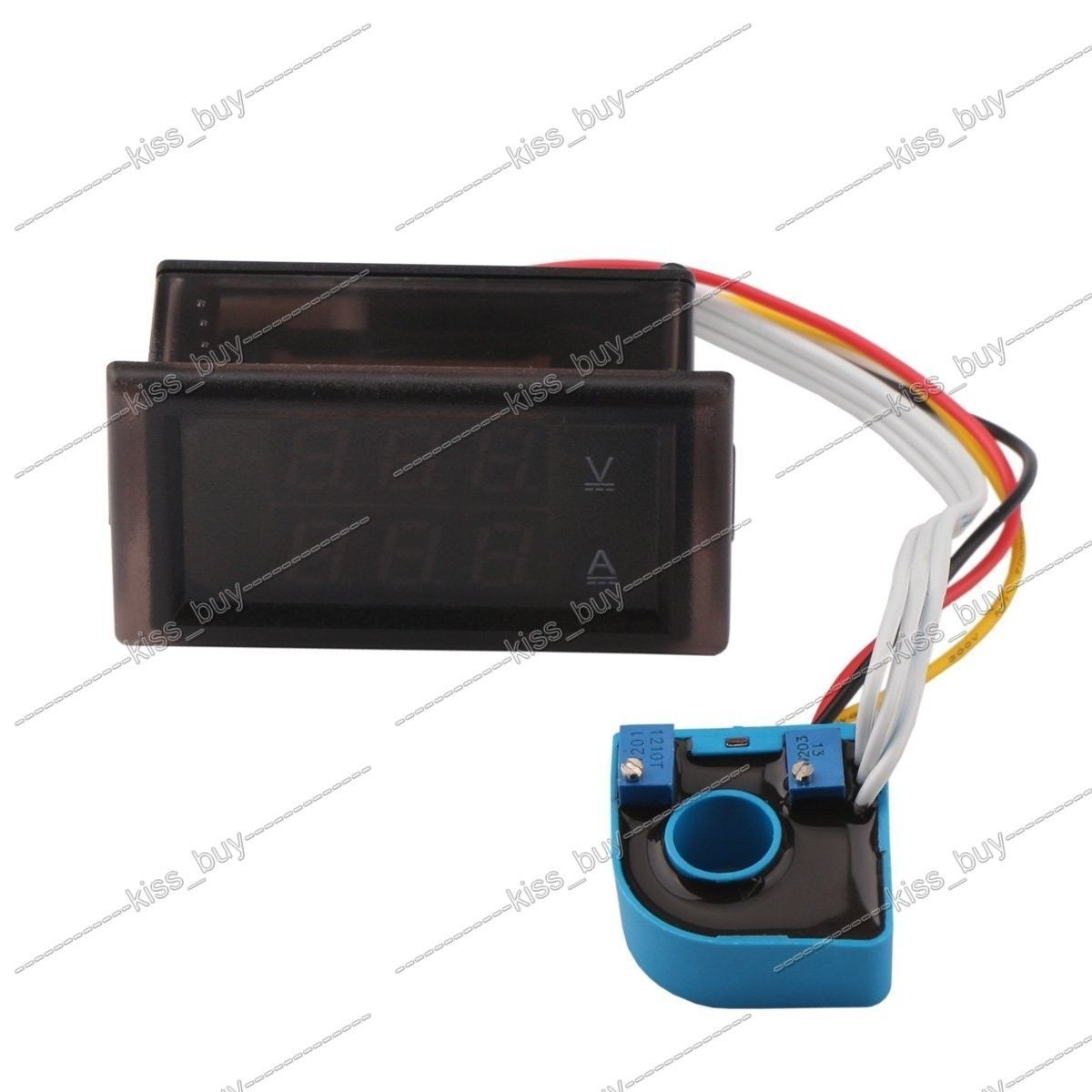 hight resolution of dc 0 600v 100a volt amp meter dual display voltage current 12v 24v car voltmeter ammeter charge discharge solar battery monitor in integrated circuits from