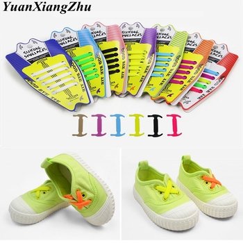 10Pcs/Set Elastic Silicone Shoelaces Children Athletic Running No Tie ShoeLaces All Sneakers shoes lace Fit Strap Shoelace sytat 12pc set running no tie shoelaces fashion unisex women men athletic elastic silicone shoe lace all sneakers fit strap