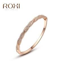 2017 ROXI pulseras de Color Oro, y rosca de bucles, de Alta calidad, el mejor de los regalos de Navidad, precio de fábrica, nuevo estilo, 2050017605B