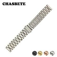 22mm 24mm Stainless Steel Watch Band for Ferrari Quick Release Metal Strap Wrist Loop Belt Bracelet Black Silver + Spring Bar