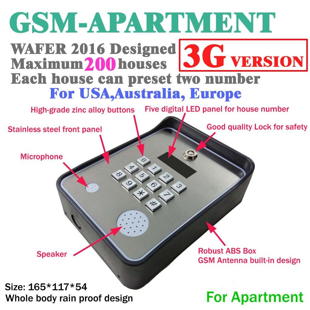 3G e citofono senza fili per porte e apri del cancello di GSM access controller e aiuto servizio di chiamata dc12v ingresso alimentazione