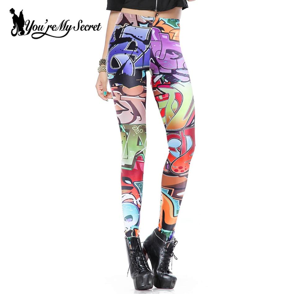 [Vy jste moje tajemství] Móda Streetwear Styl Leggings Ženy Skotsko Skinny Leggins Sexy Fitness kalhoty Vysoce elastické Mujer leginy