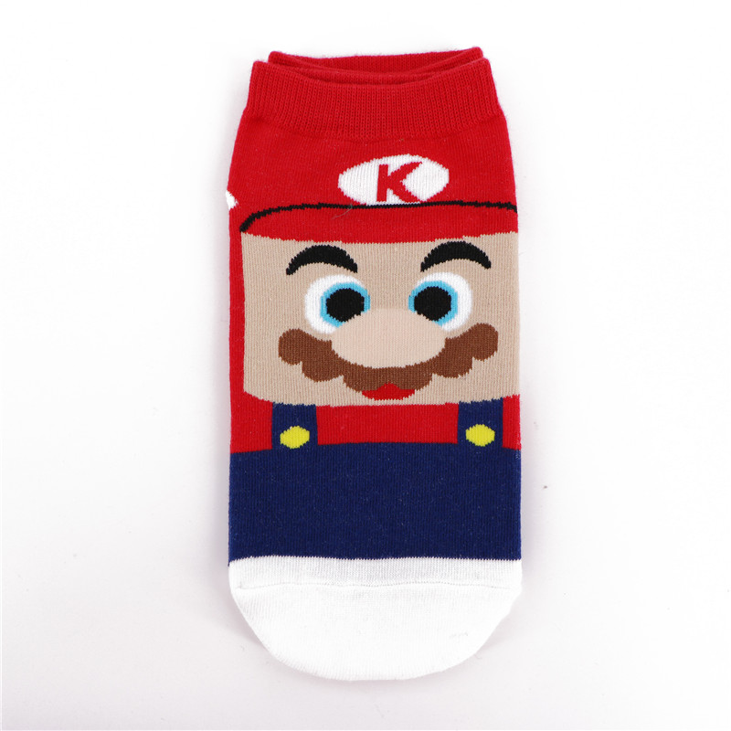 quality design 31c57 d851a US $1.36 30% OFF|CRAZY FLY Fashion Hot Sale Cotton Women Socks Funny  Cartoon Super Mario Luigi Yoshi Crazy Socks Ankle Short Socks Summer  Style-in ...