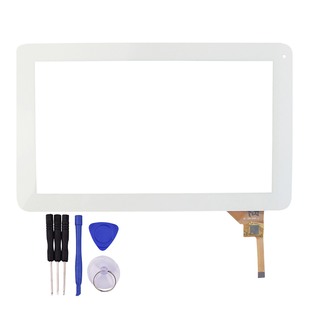 9 inch White Touch Screen Panel Digitizer Glass Replacement for Qoo table PC MF 198 090F