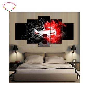 5pcs/set full 5d diamond embroidery Cool Car Diamond mosaic diy 5d diamond painting cross stitch diamond sets home decorative