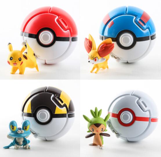 4 PCS Pokemon Pokeball Salto Cosplay Pop-up Elf Ir Bola Puxão de Combate A Baía de Brinquedo de Presente