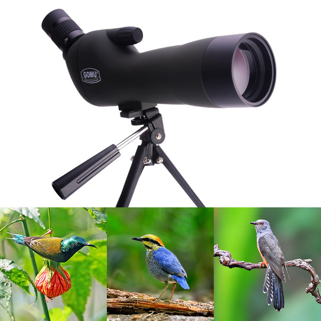 Outdoor Telescope Spotting Scope HD Monocular With Portable Tripod monocular 20-60x60 Professional telescope+Cell Phone Adapter