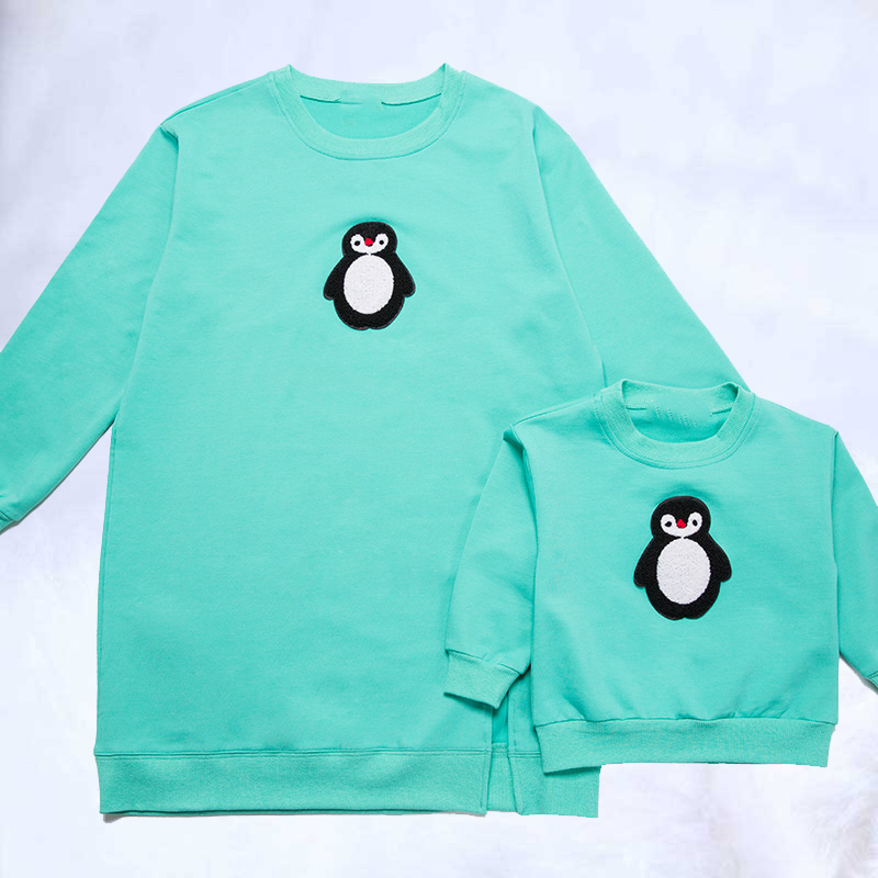 2019 famille correspondant t-shirts hauts famille noël automne mode mère et fille manches complètes sweat enfant kinder