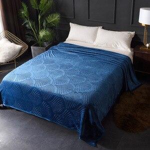 Image 3 - Рельефная Коралловая флисовая фланель одеяла 300GSM 8 сплошной летний плед Зимний диван покрывало теплые одеяла
