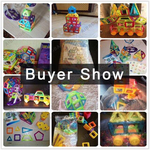 184pcs-110pcs Mini Magnetic Designer Construction Set Model & Building Plastic Magnetic Blocks Educational Toys 5