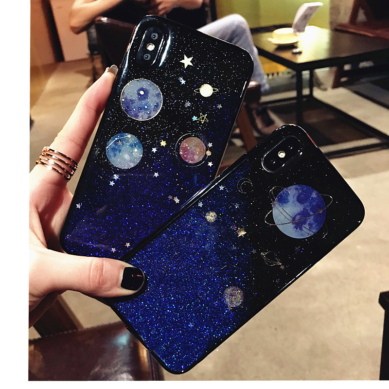 Phone Bags & Cases Radient Saturn Glitter Moon Universe Planet Tpu Case For Samsung Galaxy A9 2018 Cover Back For Samsung A9 2018 A920 A920f