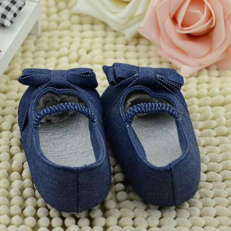Copodenieve รองเท้าเด็กสำหรับสาวเด็ก Bowknot Denim เด็กวัยหัดเดิน Princess First Walkers เด็กรองเท้า Tipsietoes