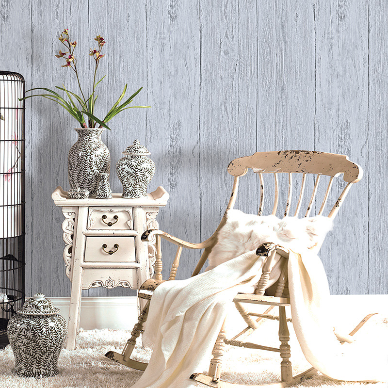beibehang Scandinavian vintage nostalgia old wood grain wallpaper Bar Cafe clothing store background walls striped 3d wallpaper wood grain print vintage flannel antislip rug