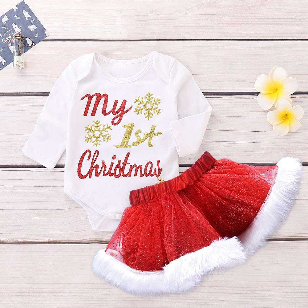 Christmas Newborn Infant Baby Girl Outfits Set Fashion Long Sleeve ...