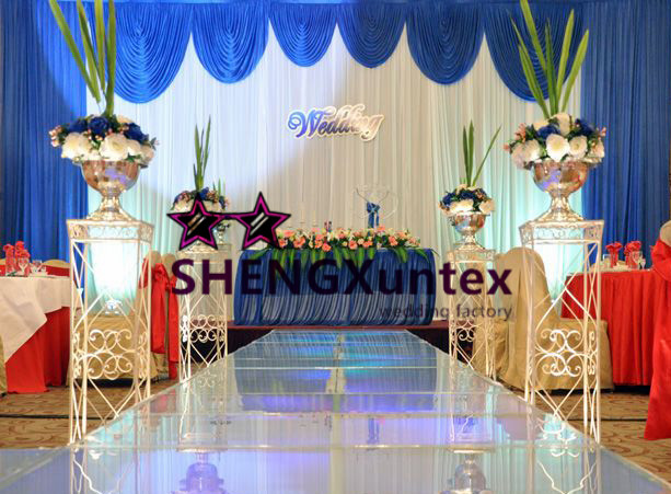 Us 200 0 Good Looking White And Royal Blue Red Color Wedding Backdrop Curtain Stage Drape Decoratiom In Window Valance From Home Garden On