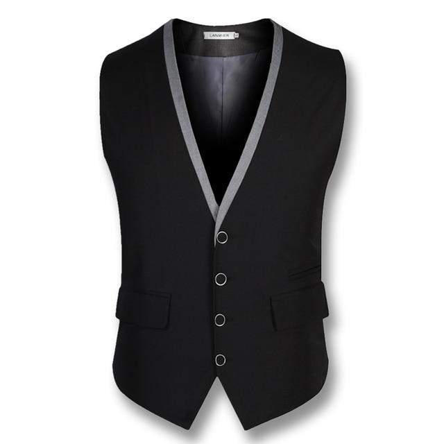 2016 Hombres de La Boda Chaleco Chalecos Chaquetas Chaquetas de Los Hombres de Negocios Vestido de Traje Chalecos Ocasionales de Los Hombres de Moda Slim Fit Mangas Blazers