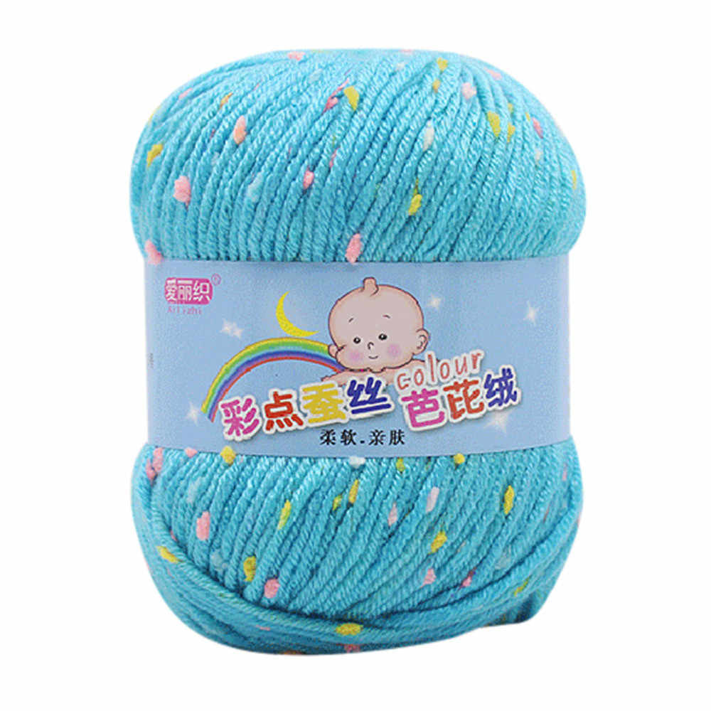 Alta qualidade quente diy algodão leite fio de lã do bebê para crianças tricô mão tricô fio crochê malha cobertor 2018