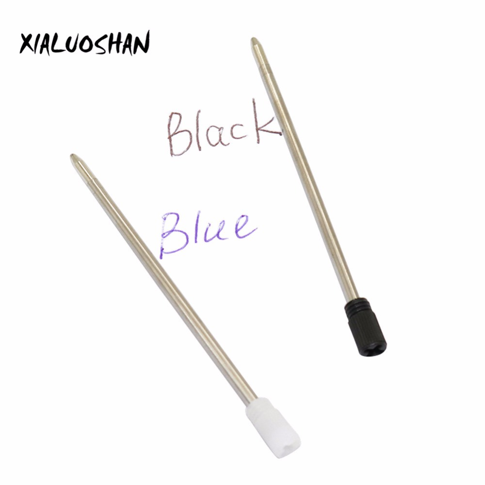 20 Pcs/lot High Quality 0.7mm Full Metal Core 7cm Short Blue Or Black Ink Refill Replacement School Supplies Office Accessories