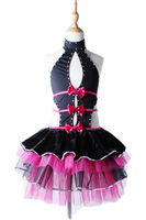 Child girl slit at the new sexy backless Latin dancing dress ethnic wind performance stage with body danza classica per adulti