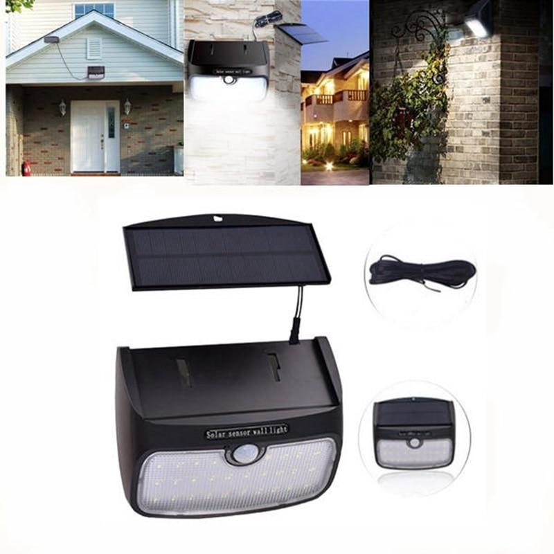LED Detachable Solar Powered Lighting Motion Sensor Waterproof Wall Light  Garden 3 Mode Security Lamp For Outdoor Garden Yard
