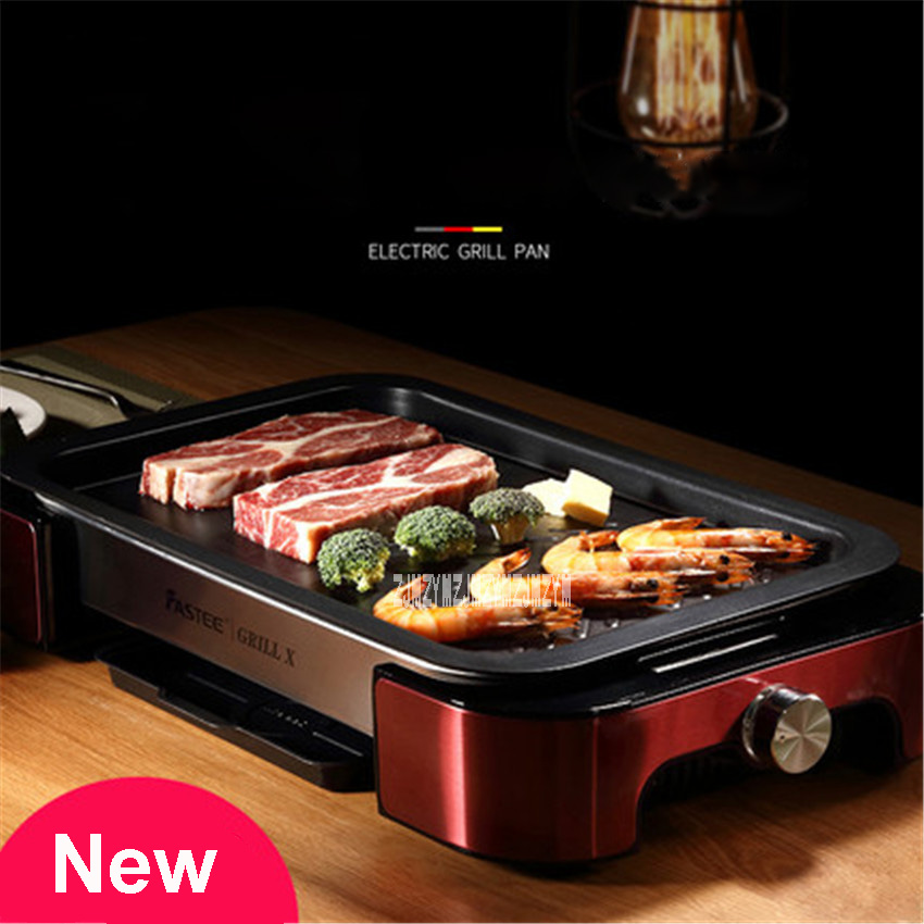 New Hot Electric Barbecue Pits FST 53A Household Smokeless Grill Commercial Barbecue Grill Pan Teppanyaki 220V 1000W 5 8 People