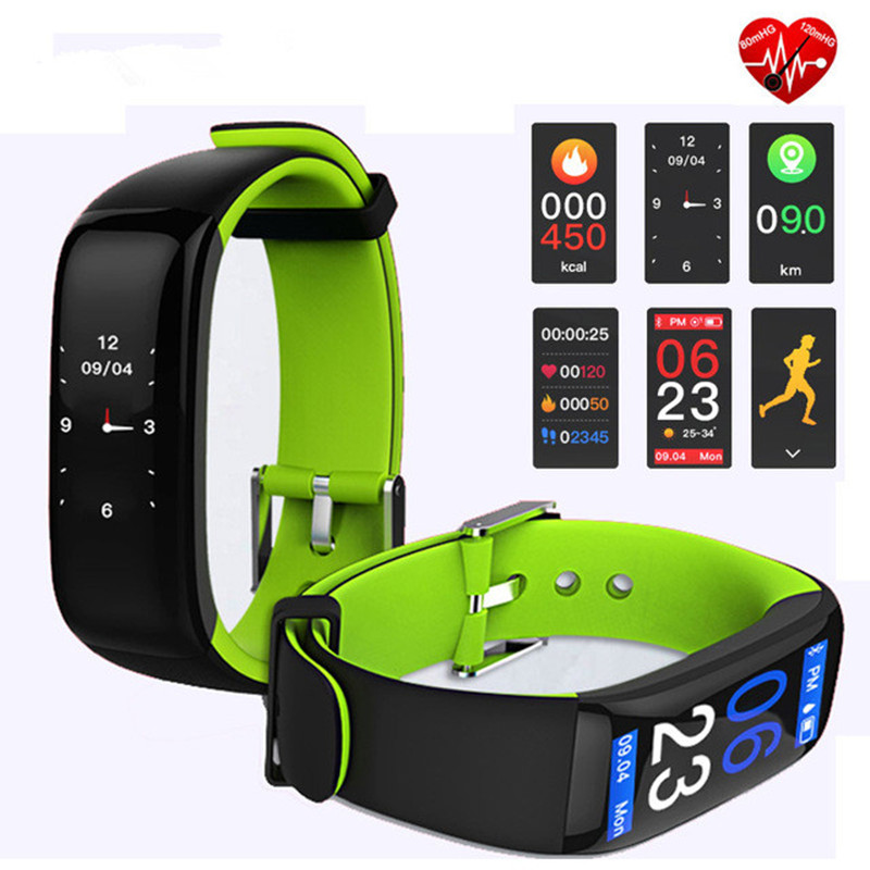 New Watches Mens P1 PLUS Pedometer Smart Band H1 Color Display Fitness Bracelet Heart Rate Tracker Blood Pressure Smart Watch цена 2017