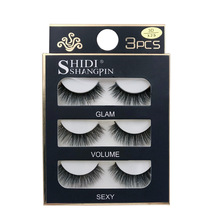 лучшая цена False Eyelash 3D Mink 3Pairs/box Soft Lashes Thick Natural Long Eyelashes Extension For Makeup Tool Mink Lashes
