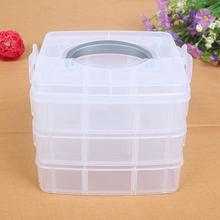 3-layers Detachable Jewelry Organizer Transparent Plastic Storage Box