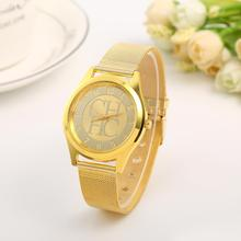 цена на 2015 New Brand Silver Geneva Casual Quartz Watch Women Metal Mesh Stainless Steel Dress Watches Relogio Feminino Clock Hot Sale