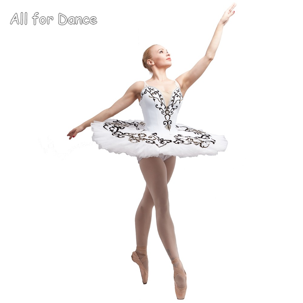 2e88b9755c0c6f € 226.87 |Blanc Spandex Corsage Avec Jupe Blanche Ballerine De Danse  Costume Tutu Femmes & Fille Professionnel Classique Crêpe Tutu dans Ballet  de ...