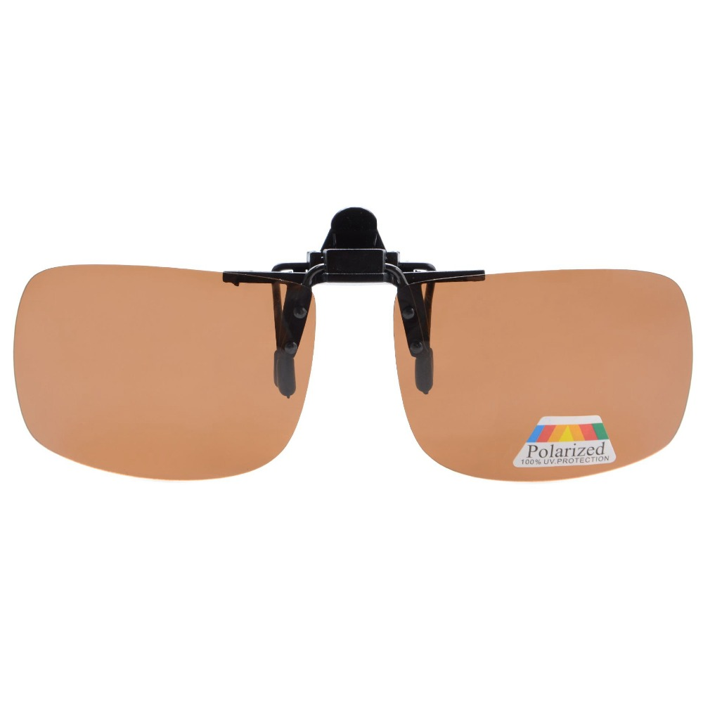 c506243d74 F68 Eyekepper Rectangular Flip up Polarized Clip on Sunglasses-in Sunglasses  from Apparel Accessories on Aliexpress.com