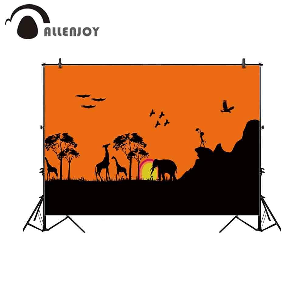 Allenjoy Fotografi Latar Belakang Hewan Malam Burung Gajah Jerapah Hitam Kartun Gunung Anak Alam Fotografi Wallpaper