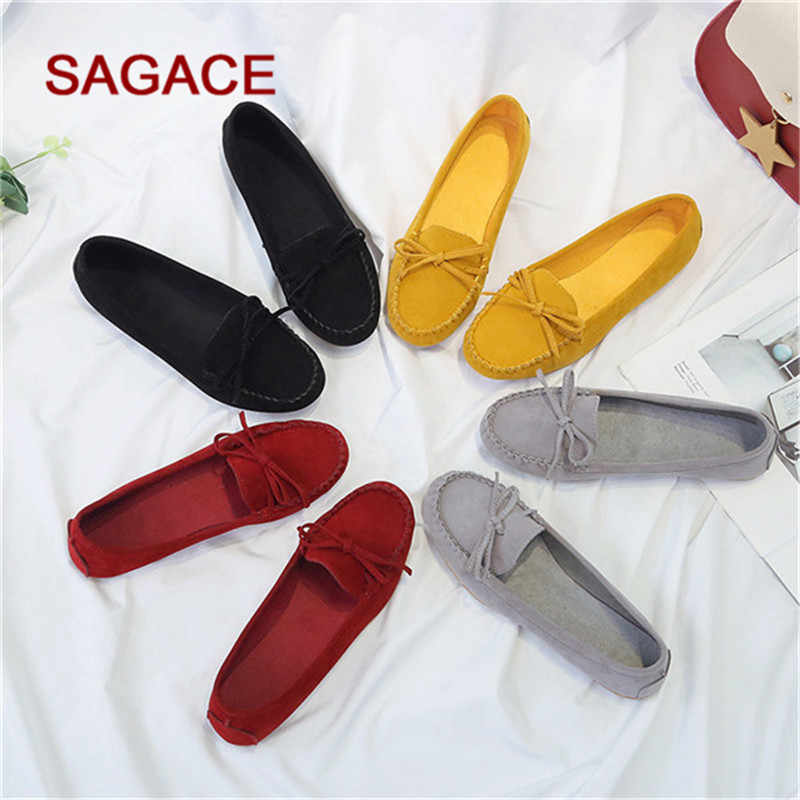 Plus Size 35-43 Women Flats shoes 2020 Loafers Candy Color Slip on Flat Shoes Ballet Flats Comfortable Ladies shoe zapatos mujer
