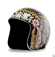 New Synthetic  Motorcycle Helmet Retro Vintage Cruiser Chopper Scooter Cafe Racer Moto Helmet 3/4 Open Face Helmet DOT moto racer 4 digital deluxe edition цифровая версия
