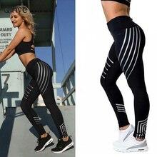 2018 Fashion Women Leggings Slim High Waist Elasticity Leggings Fitness Printing leggins Breathable Woman Pants Leggings