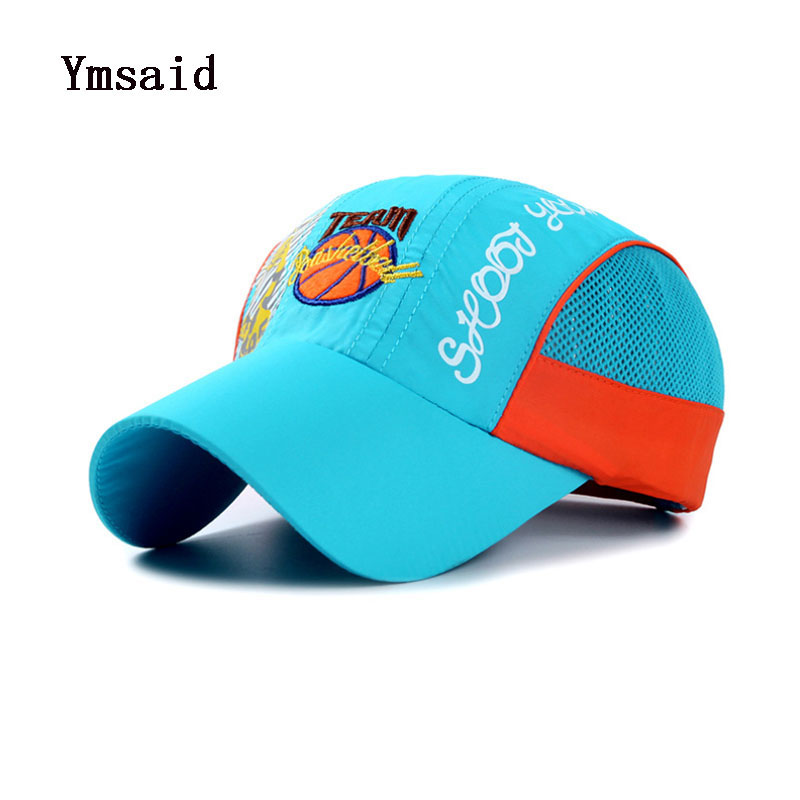 Classic Kids Breathable Quick Dry Baseball Cap Boys Girls Basketball Football Embroidery Mesh Hip Hop Snapback Caps cntang brand summer lace hat cotton baseball cap for women breathable mesh girls snapback hip hop fashion female caps adjustable