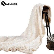 купить Velvet Mink Blanket For Adult Soft Plush Fleece Blanket Winter Warm Solid A/B Version Thicker Blankets On Sofa/Bed Throw Blanket дешево