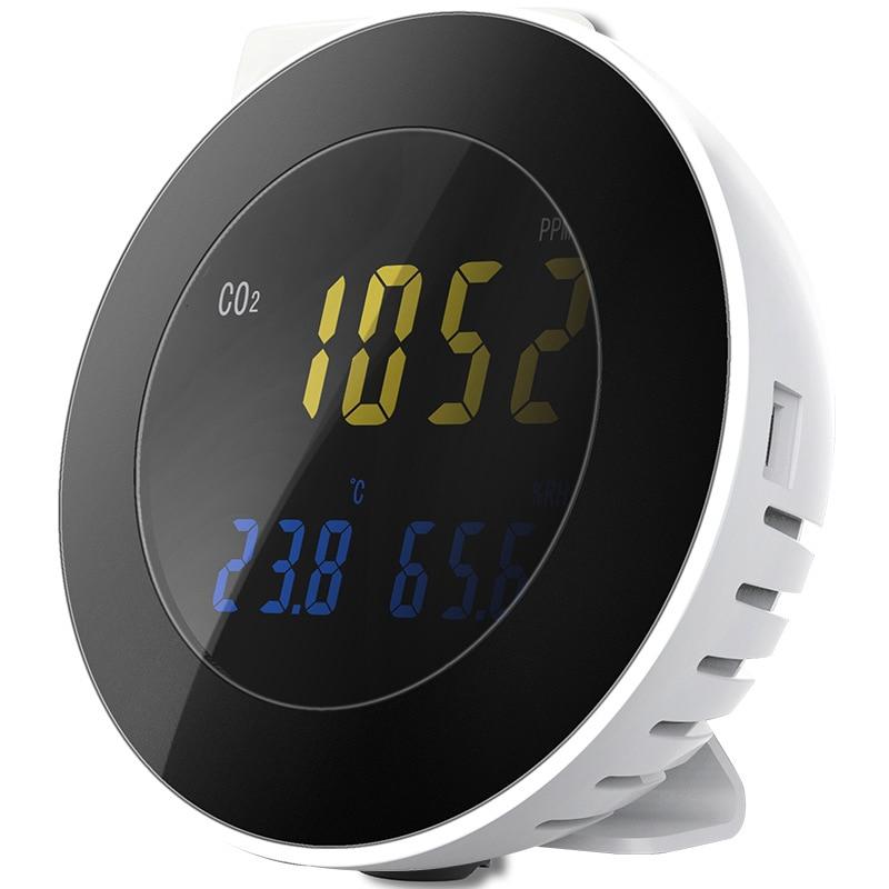 Digital CO2 Detector Detector de Vazamento de Gás Dióxido De Carbono CO2 CO2 Analyzer Monitor com Sistema de Alarme Ar Sensor Detector De Gás