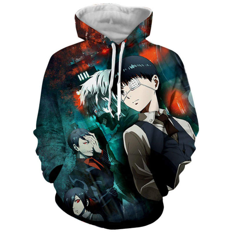 tokyo ghoul hoodie 3d printed anime graphic hoodies men oversized funny streetwear hip hop plus size unisex pullover sweatshit