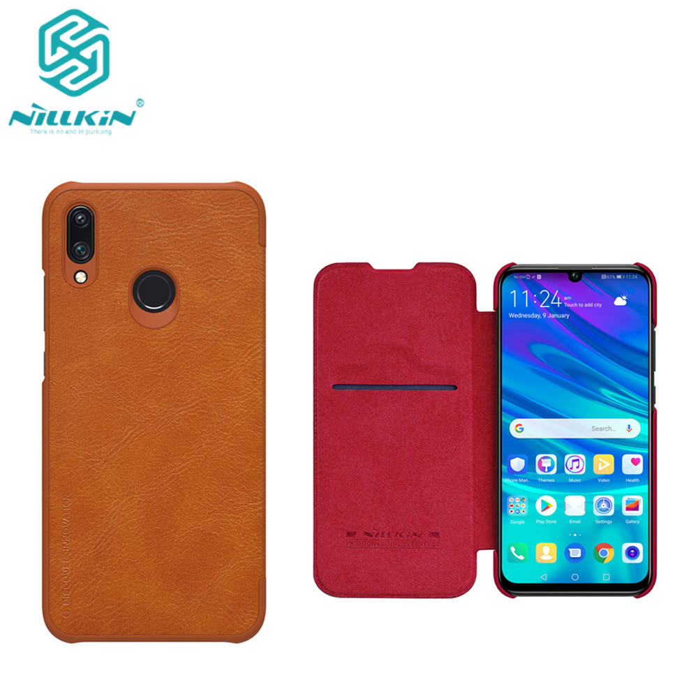 10pcs lot Wholesale NILLKIN Qin Series Wallet Flip Leather Case For Huawei P Smart 2019 Genuine
