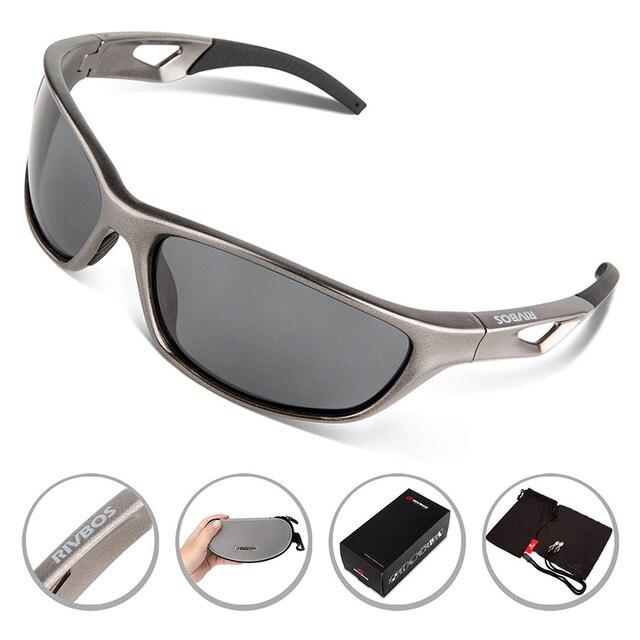 a464ce26a6 RIVBOS Ciclismo Correr Bicicleta Gafas Gafas Polarizadas gafas de Sol  Deportivas Hombres de Pesca gafas ciclismo