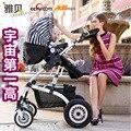 Fabricantes que vendem alta paisagem carrinho de criança do guarda-chuva carro do bebê carrinho de mão dobrável carrinho de bebê por atacado two-way shock absorber