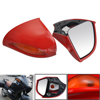 Sexy Red Rear View Glass Side Mount Mirrors Fit for BMW R850RT R1100RT R1150RT RT850 RT1100 RT1150 Motorcycle Rearviews image