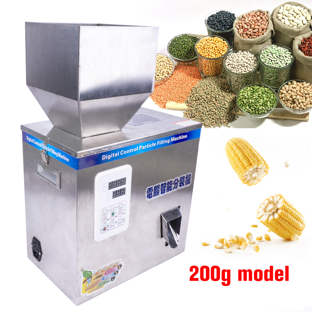 1-200g 200W Intelligent Filling Machine Tea Grain Weighing Machine Medicine Fruit Seed Filling Powder Filling Machine 110V 220V