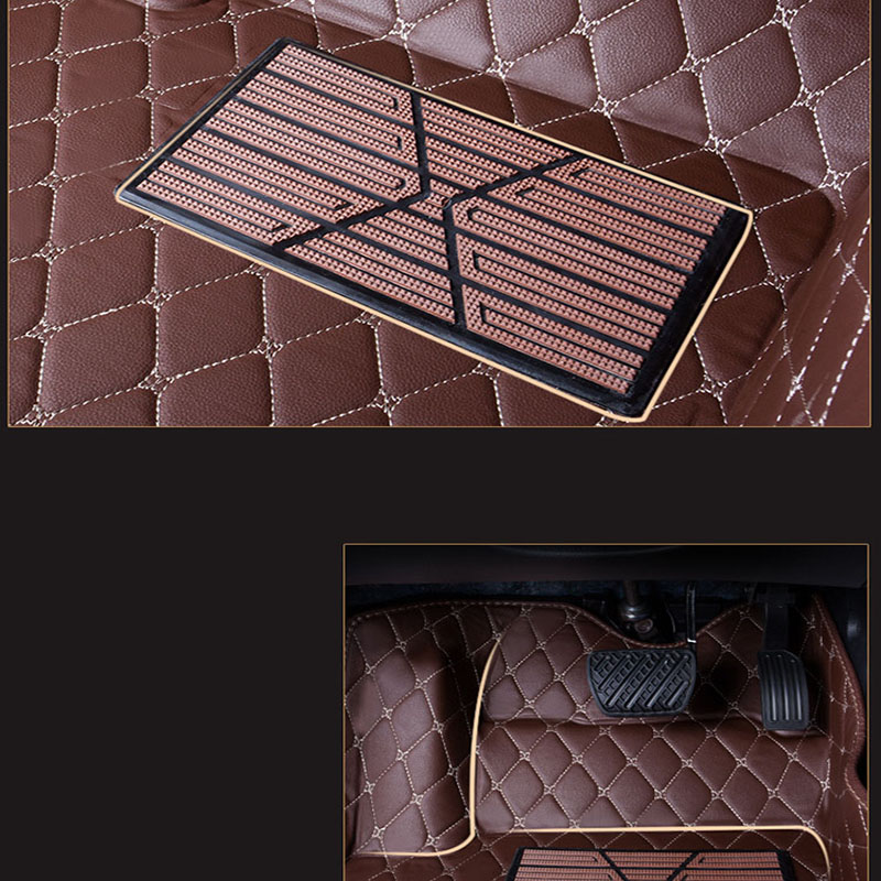 WLMWL tapis de sol de voiture pour Mitsubishi ASX éblouir lancer pajero sport pajero outlander tous les modèles - 4