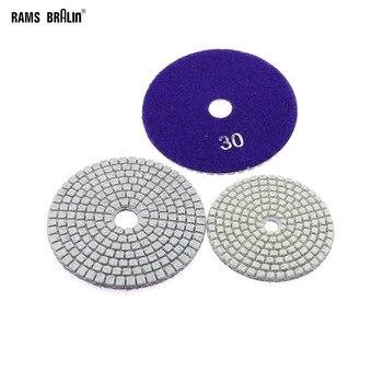 "5 Pieces 4""/3"" P30 Wet Flexible Grinding Disc Stone Floor Coarse Grinding Wet Polisher Tool"